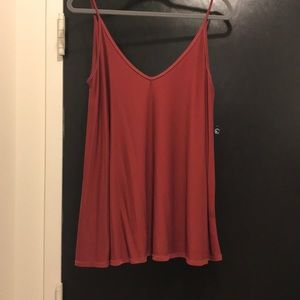 Urban Outfitters Flowy Red Tank